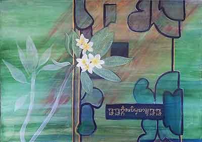 Acrylics painting Dalam Jelantik by Sabine Engert